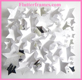 white Stars 3d framed picture by flutterframes