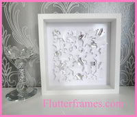 """Twinkle, Twinkle All the Stars"" 3d framed picture- Unique 3 dimensional artwork by Flutterframes"