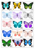 Miniature Butterflies for craft projects,decoration,embellishments,butterfly 3d stickers,miniature,dolls house,scrapbooking,tiny butterflies