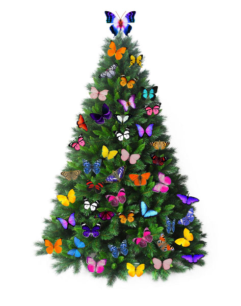 Butterfly Christmas tree decorations
