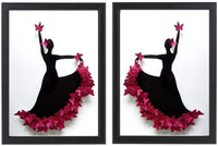 Flamenco dancer 3d butterfly picture