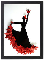 Red Flamenco dancer framed picture