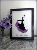 Purple  Flamenco dancer framed picture