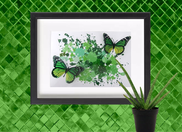 Green butterfly picture