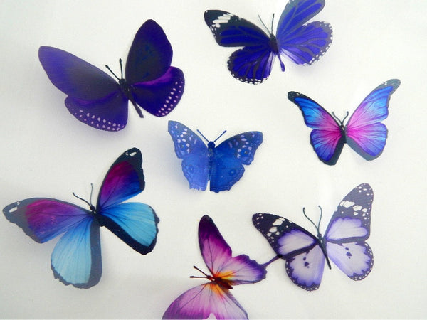 Bespoke purple butterflies from the purple collection,natural,reproduction wall sticker butterflies,caravan decor,vase,mirror,window,outdoor