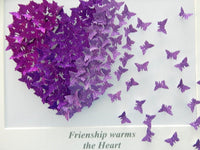 Anniversary purple glitter picture for her, in shades of lilac and Purple, hand crafted, wedding ideas