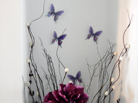 6 Purple Swallow tail Luxury Amazing  Butterflies 3D Butterfly Wall Art Flying Removable Butterflies  Home Decorations Wall Art stickers
