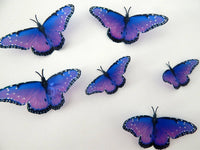 3D Purple butterflies stickers,wall art in flight flying butterflies,wall nature decor,decorative butterflies,stunning purple butterflies