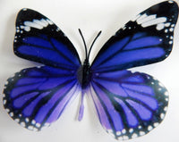 Purple butterfly reproduction natural,Butterfly 3d purple, luxury butterfly with black and white features wall art, bedroom,bathroom, window