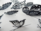 Black and white butterflies stickers
