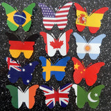 butterfly Europe flags
