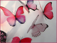 Collection of pink butterflies, 3d butterflies, wall decor, bespoke butterfly wall stickers ,natural critters, conservatory,lounge