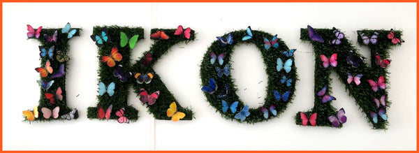 Grass butterfly letters