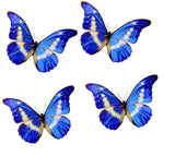 Blue butterfly for the wall 3d Natural Butterfly Royal Blue Dream wall sticker,wall decor,window,mirror,vase,conservatory  wall display