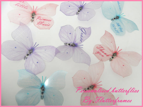 Pastel 3d wall sticker butterflies