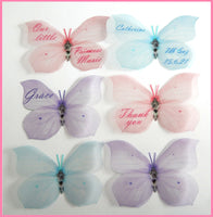 Personalised Pastel 3d wall sticker butterflies