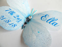 Personalised Butterfly 3d sticker, Christening gift, new baby, birthday,girls's bedroom decor, nursery wall art,personalised gift, name