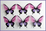 3D Purple and pink pretty butterflies, 3d stickers,wall art decor,wall nature decor,decorative butterflies,wedding decorations,party decor
