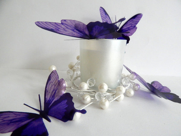 purple 3d love butterflies by flutterframes