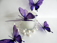purple butterflies by flutterframes for weddings