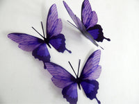 Purple butterfly 3d stickers