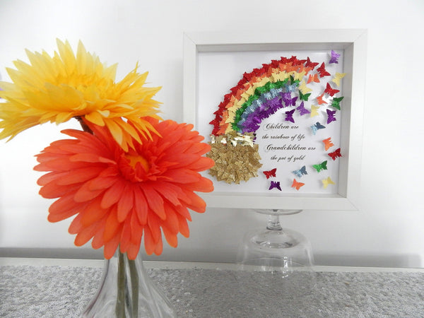 Rainbow 3d butterfly picture
