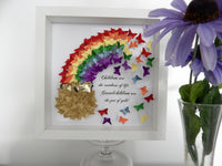 Rainbow 3d butterfly picture for grandparent