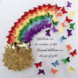 rainbow personalised 3d picture   for grandmother