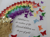 rainbow personalised 3d picture  by Flutterframes