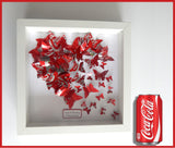 Tin Anniversary Butterfly Heart - Recycled Soda Can Picture wedding butterfly heart personalised ,Paper anniversary,10th anniversary