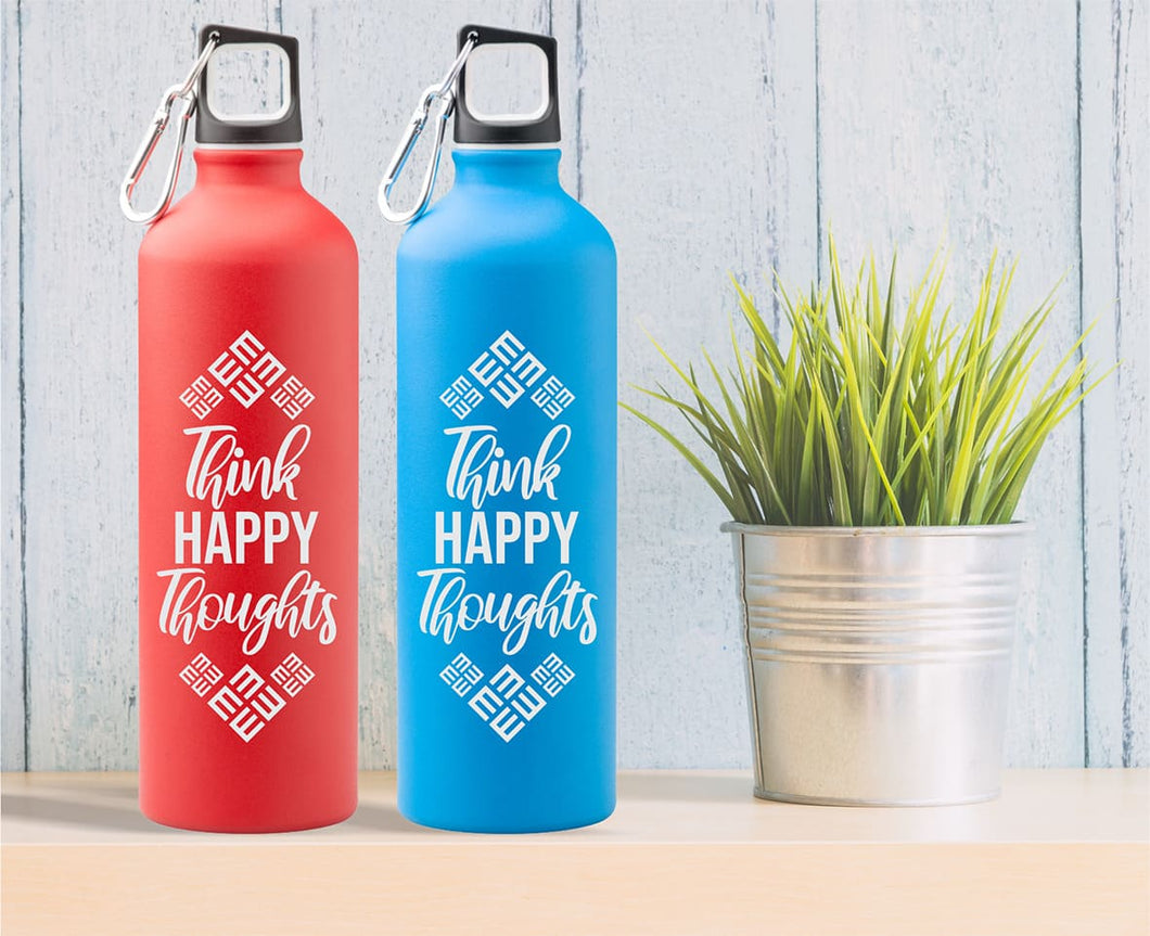 Športna flaška Think happy thoughts - 750 ml