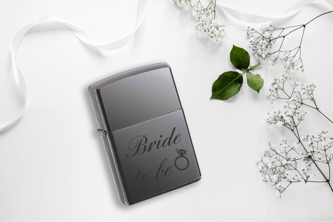 Vžigalnik Zippo Black Ice - Bride to be