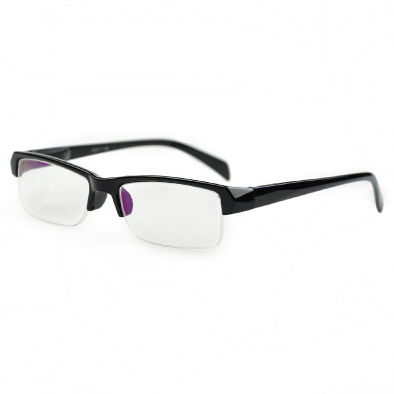 Mayitr Black Half Frame Ultralight Nearsighted Glasses Minus Distance Transparent Myopia Glasses -1 -1.5 -2 -2.5 -3 -3.5 -4