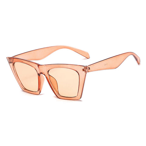 HUHAITANG Vintage Luxury Brand Square Sunglasses Women 2019 Cateye Sun Glasses Shades For Woman Sunglass Ladies Retro Sunglases