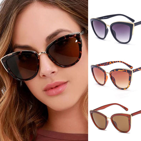 MUSELIFE Cateye Sunglasses Women Vintage Gradient Glasses Retro Cat eye Sun glasses Female Eyewear UV400