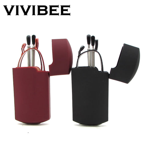 VIVIBEE Mini Size Foldable Men Square Reading Glasses 150 Titanium Metal Rectangular Frame Folding Small Women +2 +1.5 Glasses
