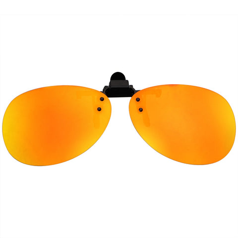 YOSOLO Car Driving Night Vision Lens Anti-UVA UVB For Men Women Driver Goggles Clip On Sunglasses Polarized Sun Glasses