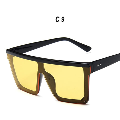 Sun Glasses Women Oversized Sunglasses Mens Big Frame Square Flat Top Vintage Mirror Shades for Women Glasses UV400