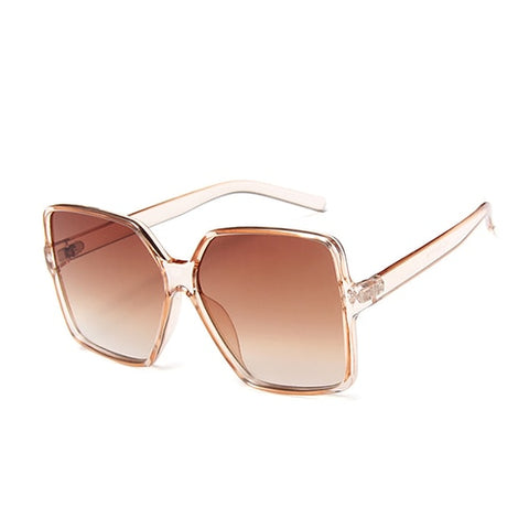 New Black Oversized Square Sunglasses Women Summer Travel Trendy Style Sun Glasses Female Big Square Celebrity Shades Oculos