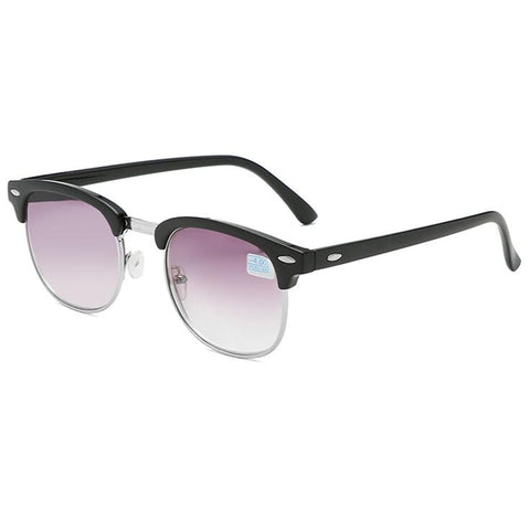 Men Women Students Myopia Sunglasses Metal Half Frame Nearsighted Gray Lens Glasses -0.5 -1 -1.5 -2 -2.5 -3 -3.5 -4 -4.5 -5 -6
