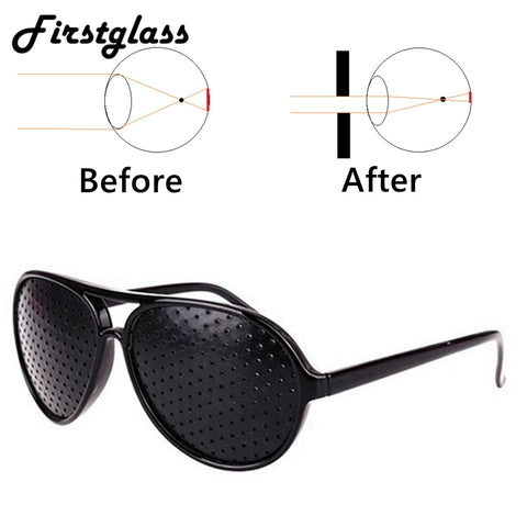 PANDER Eyesight Protector Pin hole Glasses Men Improve Vision Anti-Fatigue Myopia Glasses Reading Women Black Framen Holesale