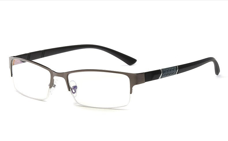 Reading Glasses Men Business Glasses  Fashion Metal Half Frame Eyewear Myopia Eyeglasses Diopter -0.5 to -6