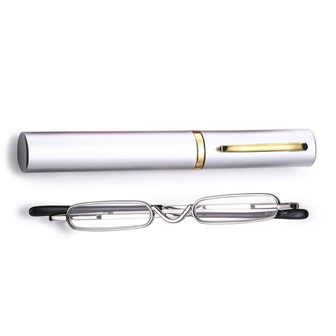 PANDER Fashion Reading Glasses Mini Folding Pocket Reader Foldable Lightweight +1.0 To +4.0 Presbyopia Hyperopia Glasses Gafas