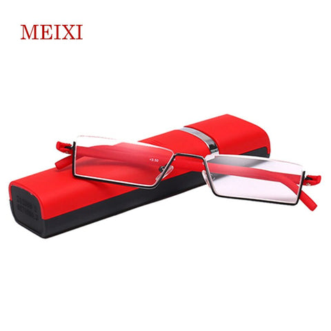 TR-90 Half Frame Slim Portable Black/Red/Brown Reading Glasses Anti-blue light With Box +1.0 +1.5 +2.0 +2.5 +3.0 +3.5 +4.0