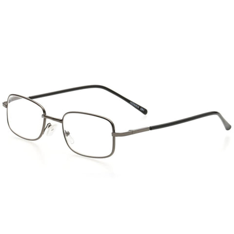 Hot Sale Metal Eyeglasses Frame Rectangle Presbyopia Hyperopia Old Man Reading Glasses 100-400 Degree