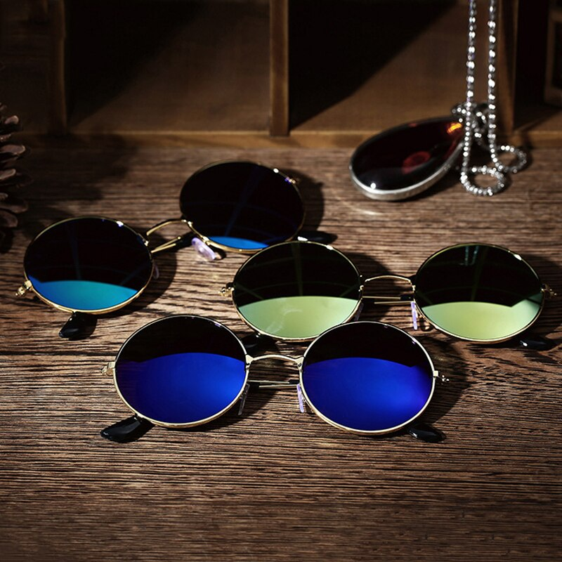 Round Polarized Sunglasses Men Women Sun Glasses Women Metal Frame Black Lens Eyewear Car Driving Outdoor Sports Retro Classic