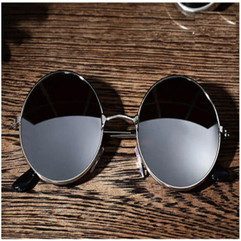 Men Women Retro Round Mirrored Sunglasses Driver Goggles Eyewear Outdoor Sports Glasses Spectacles Car Accessories New