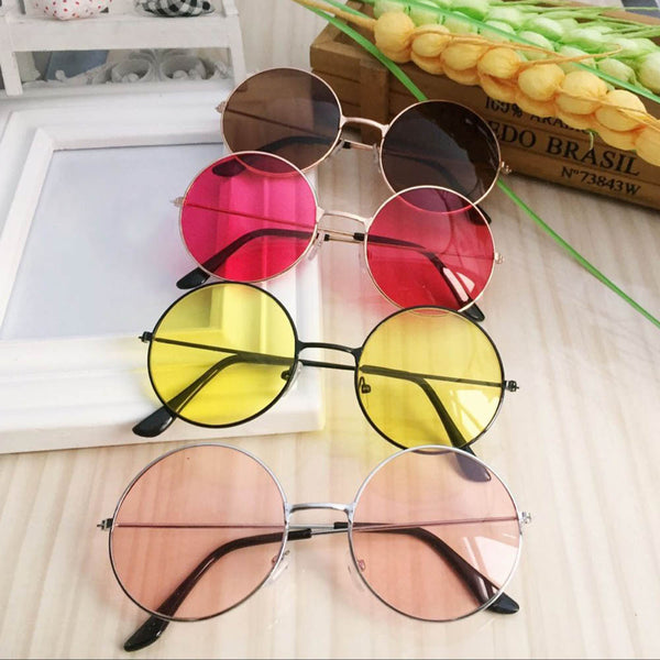 Women Fashion Retro Round Plastic Glasses Lens Sunglasses Eyewear Frame GlassesWomen Fashion Retro Round Plastic drive Goggles