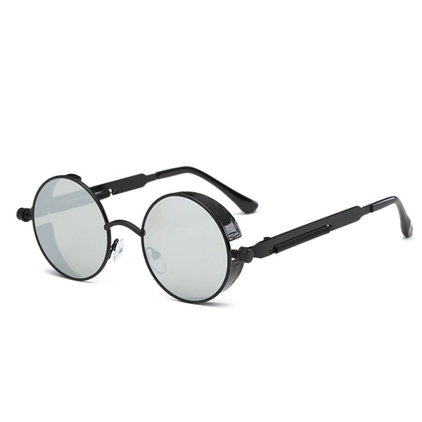 Muticolor Retro Round Metal Glasses Lens Goggle Glasses Eyewear Frame Glasses Women Fashion Retro Round Metal Drive Goggles
