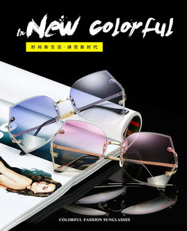 Fashion Oversized Sunglasses Women Large Size Sunglasses Transparent Frame Vintage Big Retro Sun Glasses Female Driving mirror